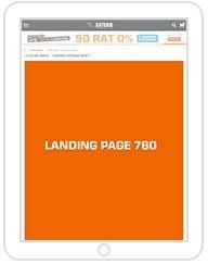 Landing page Tablet