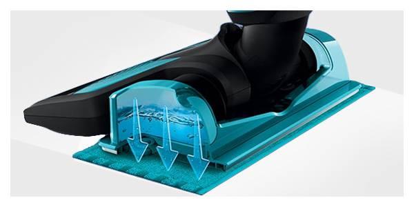 Philips Łatwe czyszczenie na mokro. Odłączany zbiornik na wodę