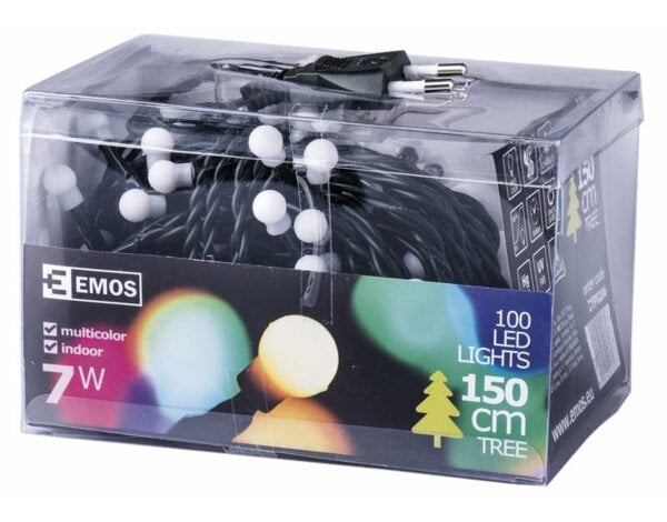 Lampki choinkowe EMOS 100 LED BALL CHR 5M IP20 MC ZYP0206