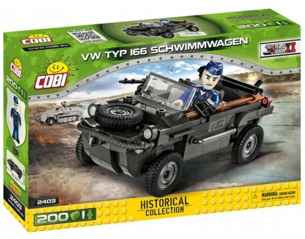 Klocki COBI Historical Collection: World War II - VW Typ 166 Schwimmwagen 2403