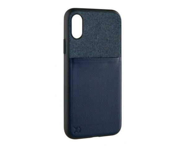 Etui na smartfon XQISIT Card Case do Apple iPhone X/iPhone XS Ciemnoniebieski 33118