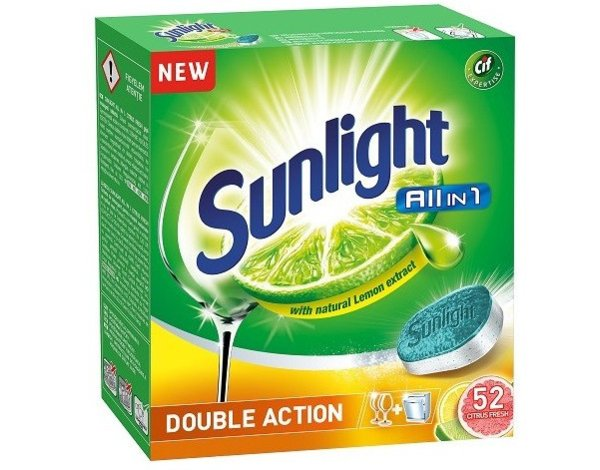 Tabletki do zmywarki SUNLIGHT All In 1 Double Action  52 szt.
