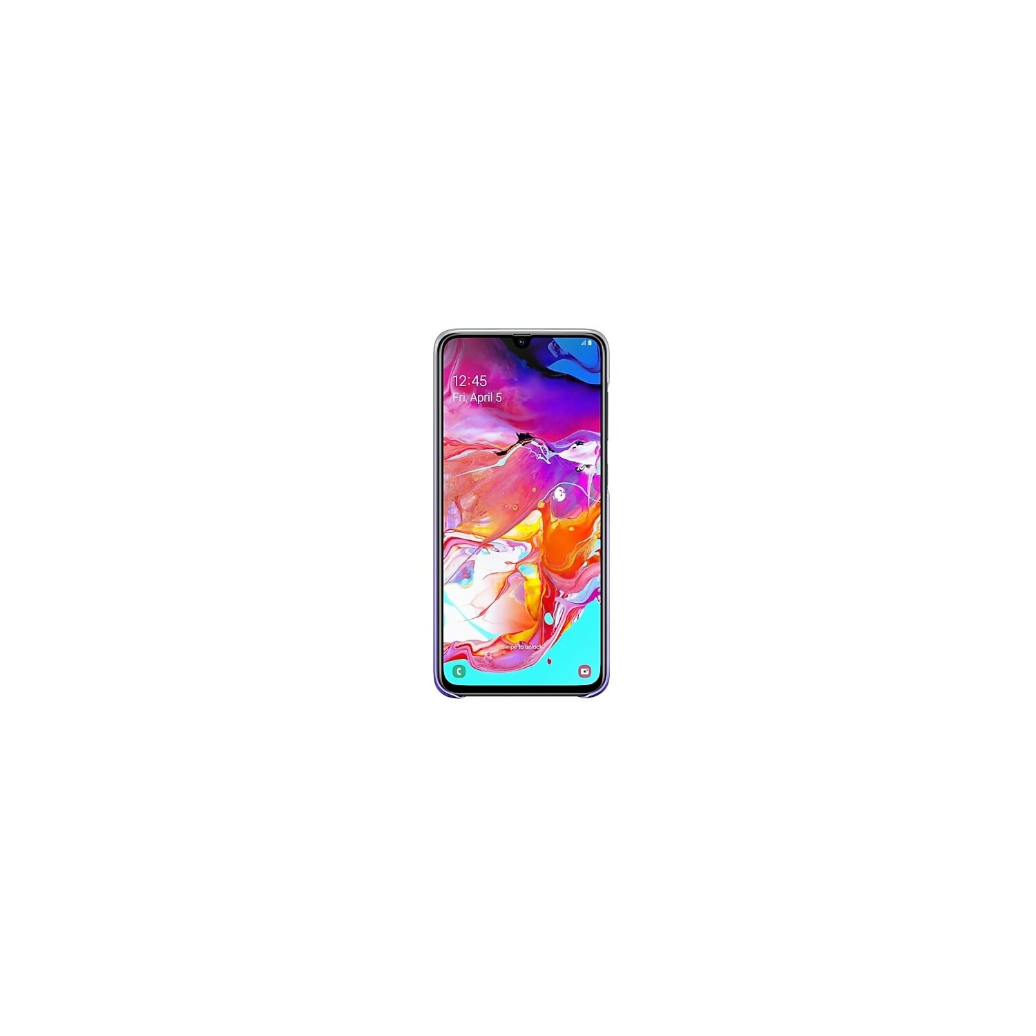 Etui SAMSUNG Gradation Cover do Samsung Galaxy A70 Fioletowy EF-AA705CVEGWW