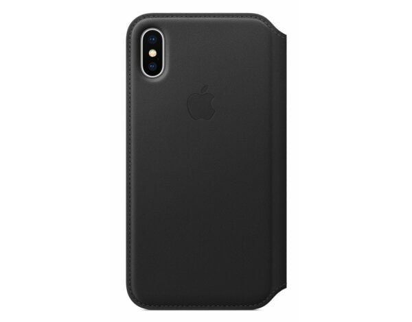 Skórzane etui folio do APPLE iPhone X Czarny MQRV2ZM/A
