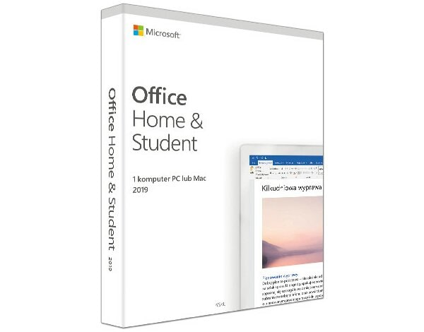 Program Microsoft Office Home and Student 2019 PL Win/Mac 32/64bit