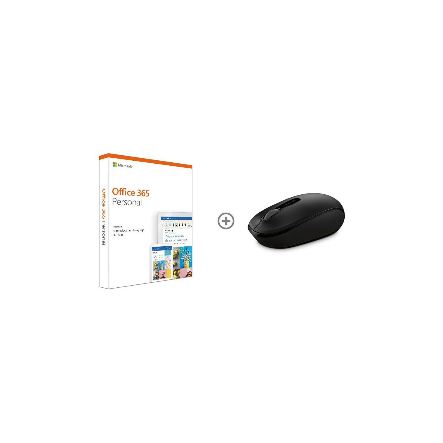 Program Microsoft Office 365 Personal PL Win/Mac + Microsoft 1850 Wireless Mobile Mouse