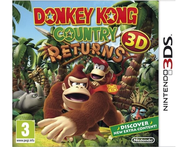 Gra 3DS Donkey Kong Country Returns 3D