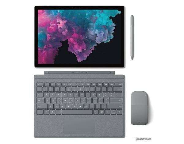 Laptop/Tablet 2w1 MICROSOFT Surface Pro 6 i7-8650U/16GB/512GB SSD/Win10H Platynowy