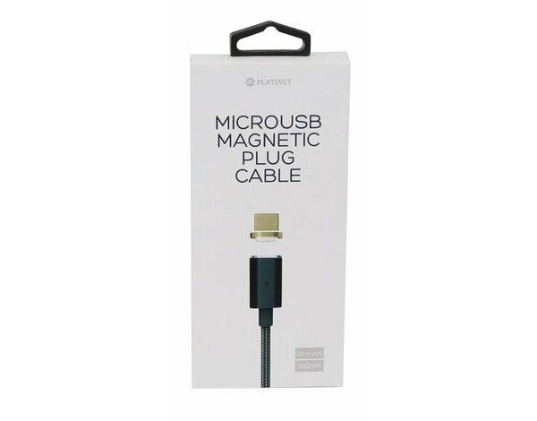 Kabel microUSB PLATINET 1.2m Czarny magnetyczne wtyczki