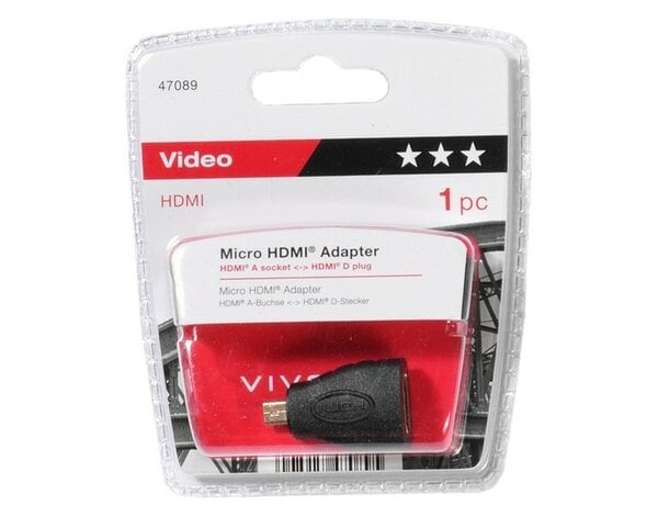 Adapter microHDMI VIVANCO 47089